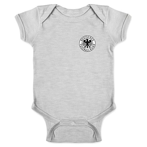 Germany Soccer Retro National Team Gray 12M Infant Bodysuit (Cup 1974 Soccer)