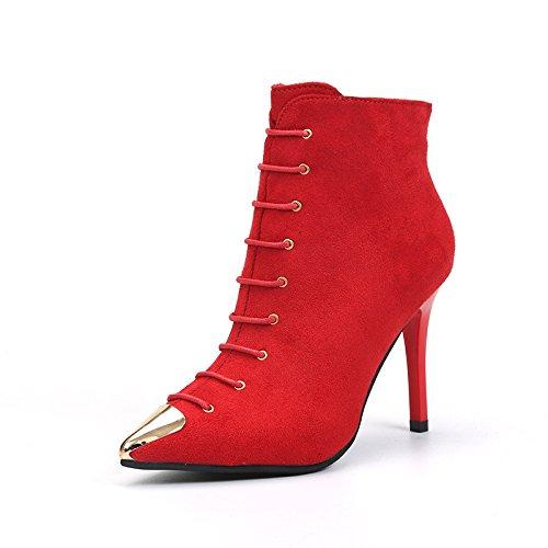 KHSKX-Schon Bei Der Hochzeit Schuhe Rote Schuhe Kopf Aus Metall Gut? Thirty-seven