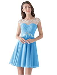 Dresstells® Short Bridesmaid Dress Cocktail Party Prom Dress with Beadings