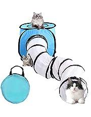Vanplay Kattentunnel Opvouwbare Kitten Kattenspeelgoed Tunnel en tent met Opbergtas Voor Katten Puppy's Kittens Konijnen
