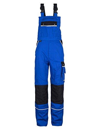 TMG® - Herren Latzhose für Mechaniker/Klempner - Royalblau (W44 R / EU60)