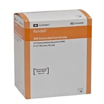 Covidien 55535P Kendall Plus - Apósito para heridas, espuma hidrófila fenestrada, talla 8,