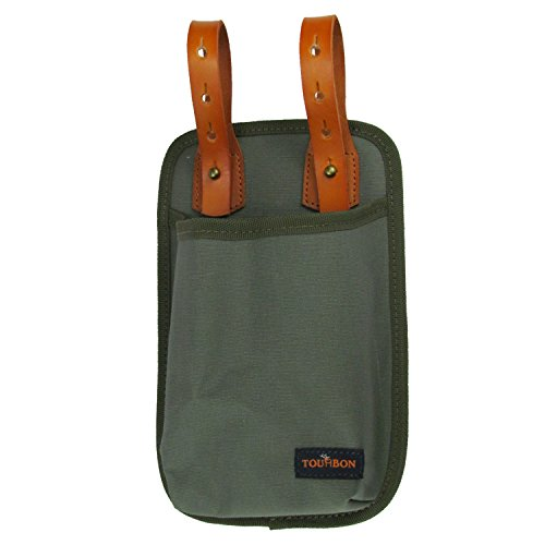 TOURBON Canvas & Leather Bicycle U-lock Tote Bike Lock Holster Bag