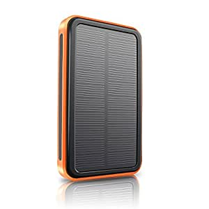 MAOZUA 15000mAh Solar Charger Portable Solar Power Bank Dual USB Charger Built in LED Flashlight for iPhone Android Phone PSP MP3 Camera and Other 5V USB Devices