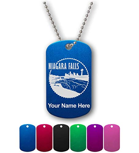 Military Style ID Tag, Niagara Falls, Personalized Engraving Included ()