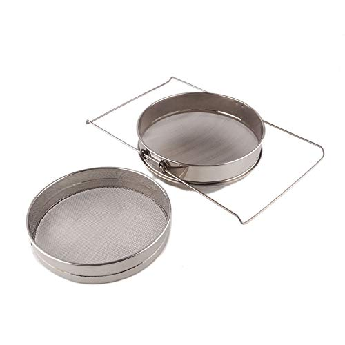 Stainless Steel Colander - Stainless Steel Colander Strainer Chocolate Beekeeping Honey Double Layer Filter Net Screen Mesh - Small Basket Magnolia Cream Colander Handle Hand Strainer Hearth In ()