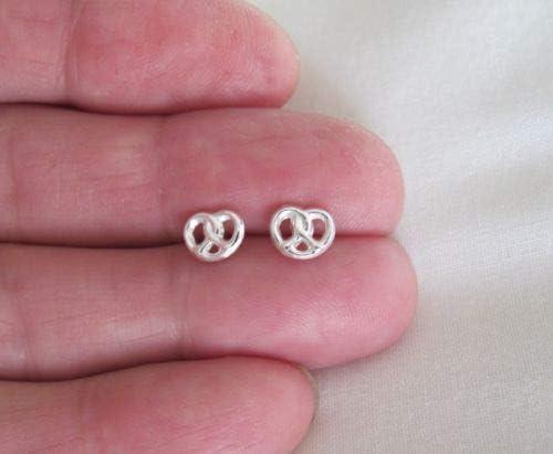 Amazon.com: Sterling Silver 6mm Delicate Pretzel Post Stud Earrings. - Jewelry Accessories Key Chain Bracelet Necklace Pendants: Arts, Crafts & Sewing