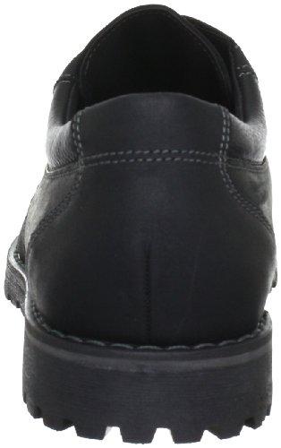 FRETZ men Salvador 7745.8188.51 - Zapatos de cordones de cuero nobuck para hombre Negro