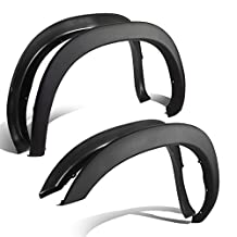 Dodge Ram 2nd Gen Factory Style 4pcs Paintable ABS Smooth Wheel Fender Flares (Black)