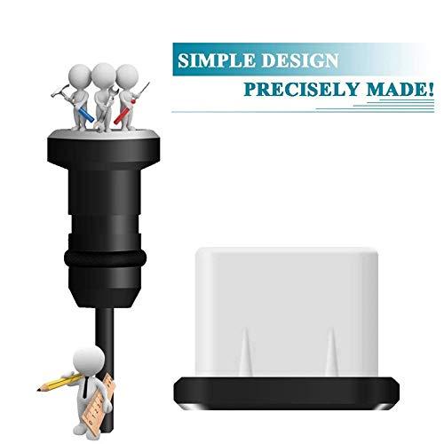 Semoic USB C Aluminum Dust Plug Set Type-C Charging Port 3.5Mm Headphone Jack Cell Phone Accessories for Mate 20