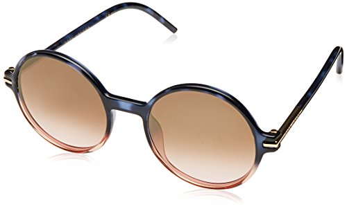 Marc Jacobs Women's Perfectly Round Sunglasses, Havana Blue Pink/Brown, One - Jacobs Sunglasses Marc Round