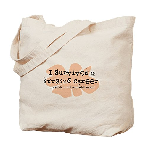 CafePress - Retired Nurse FUNNY - Natural Canvas Tote Bag, Cloth Shopping Bag