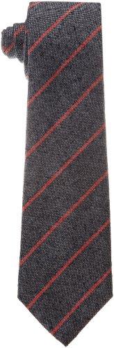 Psycho Bunny Men's Handmade Stripe Tie, Red, One Size