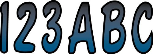 (Hardline Products BMBKG200 Metallic Blue/Black Number Factory Matched Registration Kit)