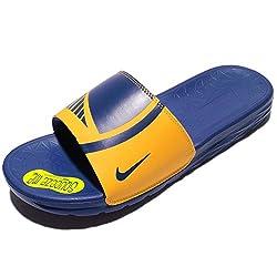 Nike Men's Benassi Solarsoft Nba, Amarillorush Blue, 9 M Us