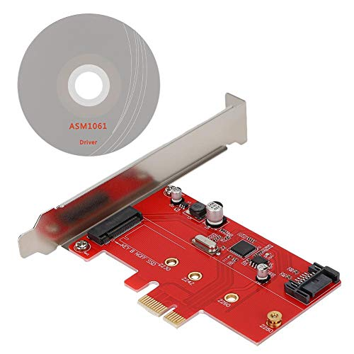 Tangxi PCI-E Riser Card, Desktop PCI-E to M.2 SSD Expansion Card SATA3.0 Solide State Drive Riser Card Adapter
