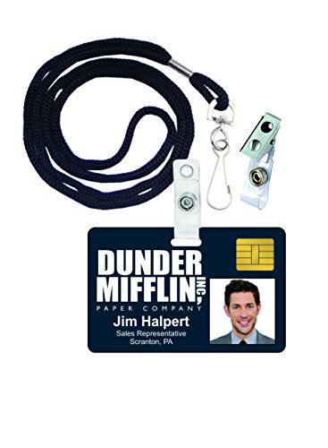 Jim Halpert The Office Novelty ID Badge Film Prop for Costume and Cosplay • Halloween and Party (The Office Show Halloween)