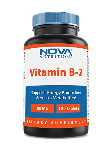 Nova Nutritions Vitamin B2 Riboflavin 100 mg 180 Tablets