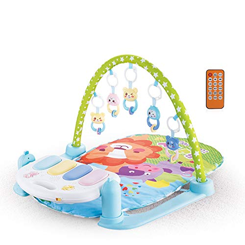 MCJL Remote Control Pedal Piano Early Childhood Education Rattle Music Carpet Fitness Rack Game Suitable for Newborns Born in Music and Lighting,Lion by MCJL (Image #7)