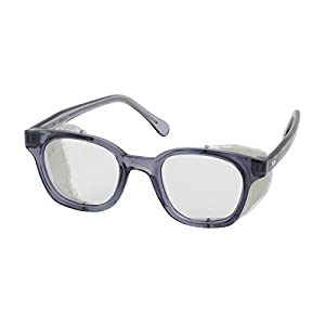 Bouton 249-5907-400 5900 Traditional Eyewear with Smoke Propionate Full Frame and Clear Anti-Scratch/Fog Lens