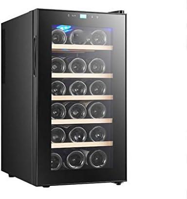 XJBHRB Nevera Vinos, Refrigerador De Vino De 18 Botellas, Blanco Nevera para Vinos - Zonas De Temperatura 11-18 ° Pantalla Táctil, Refrigerador De Vino, Negro