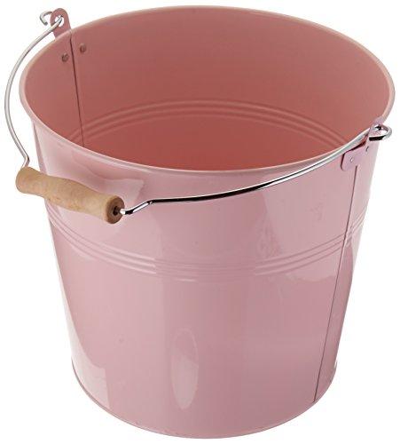 Organize It All Round Metal Bucket, Pink