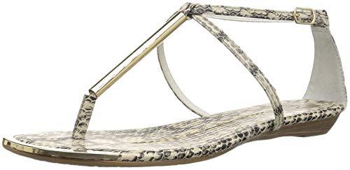 DV by Dolce Vita Women's Archer Flat Sandal Snake Print Stella 7 M US