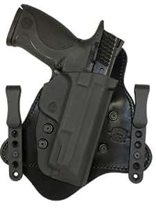 Minotaur MTAC Holster - Black Leather Backing - 1.50 Black C Clips Bersa Thunder .380 (Single Stack)Right