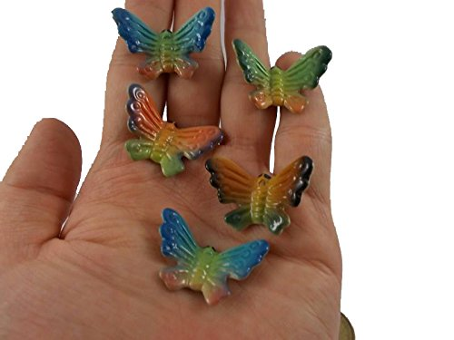 10 pc Butterflies Ceramic Butterfly Figurines Miniature Butterfly Decorate Home Animals -