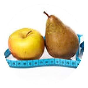 alfombrilla de ratón Las frutas y cinta métrica - ronda - 20cm