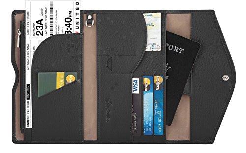 Travelambo Rfid Blocking Passport Holder Wallet & Travel Wallet Envelope (black)