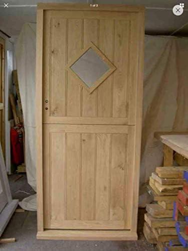 Puerta exterior de roble macizo hecha a mano: Amazon.es: Bricolaje y herramientas