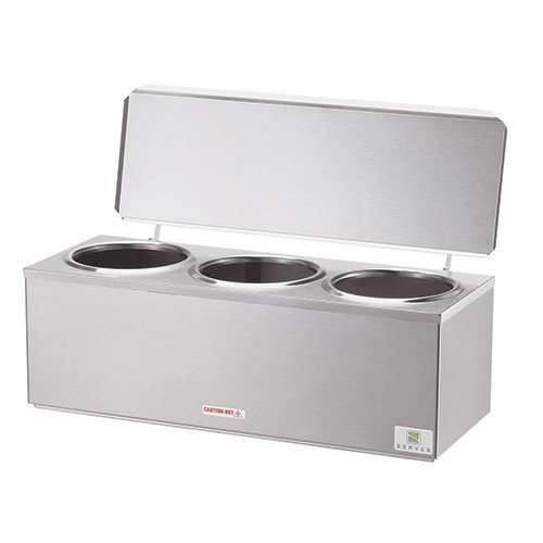 Server Products 92040 Heated Dip Server Warmer Three Wells