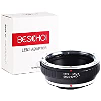 Beschoi Lens Mount Adapter for Canon EOS EF mount Lens to M4/3 MFT Olympus PEN and Panasonic Lumix Cameras / such as Olympus PEN E-P1 P2 P3 P5 E-PL1 PL1s PL2 PL3 PL5 PL6 E-PM1 PM2 OM-D
