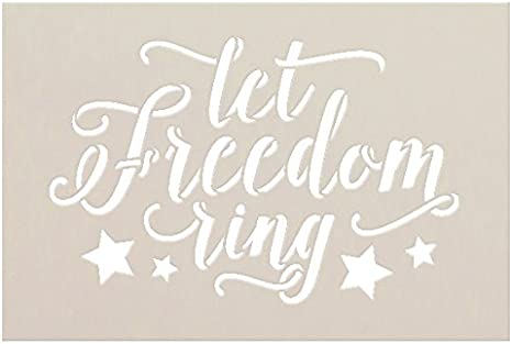 Let Freedom Ring 12x12 framed reverse canvas sign America Independence Day 4th of July