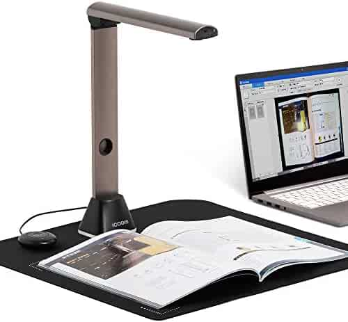 iCODIS X7 Book & Document Scanner, 15MP High Definition Portable Document Camera, Auto-Flatten & Deskew, Capture Size A3, Multi-Language OCR, USB, SDK & Twain for Office and Education Presentation