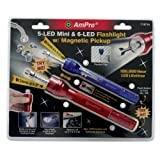 Flashlight Set, 2 Piece, Includes 5 LED Mini and 6 LED, Both with Extendable Magnetic Pickup Tools Equipment Hand Tools