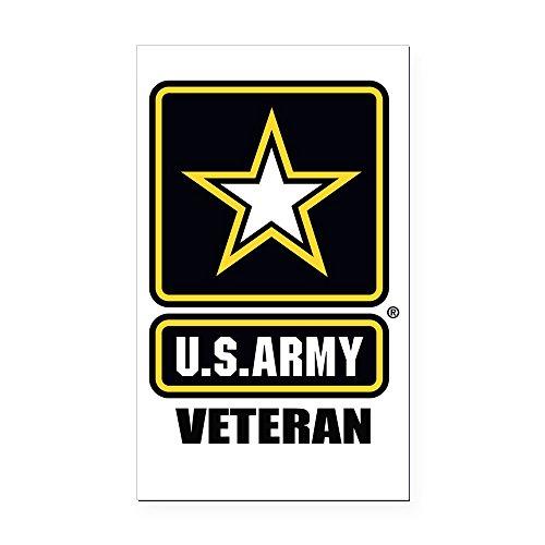 CafePress - Army vet Rectangle Car Magnet - Rectangle Car Magnet, Magnetic Bumper Sticker (Rectangle Patriotic Magnet)