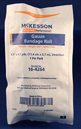 McKesson - Fluff Bandage Roll McKesson Cotton 6-Ply 4-1/2 Inch X 4-1/10 Yard Roll NonSterile - 100/Case - McK
