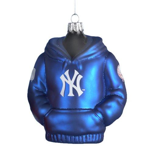 New York Yankees Kurt Adler 4-1/2-Inch Glass Hoodie Sweatshirt Ornament]()