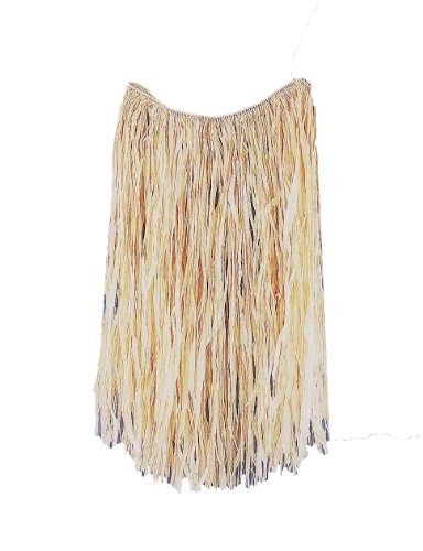 Women's Natural Grass Skirt, Beige, One Size