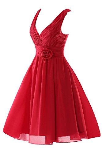 Bridesmaid Short a Bess V Ocean Flower Neck Women's Blue Bridal Dress Line px6E0qEwY