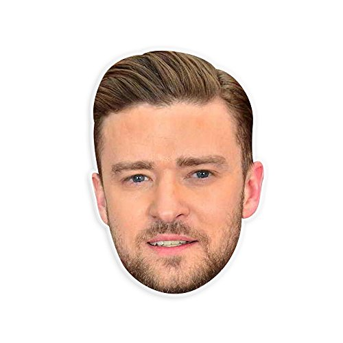 Neutral Justin Timberlake Mask - Perfect for Halloween, Masquerade, Parties, Events, Festivals, Concerts - Jumbo Size Waterproof (Celebrity Halloween Masks)