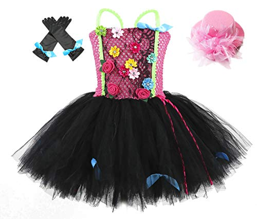Halloween Punk Rock Star Costumes for Girls Birthday Diva Costume Tulle Tutu Dress for Toddlers Accessories 3T 4T