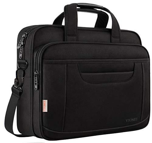 Laptop Briefcase,15.6 Inch Laptop Bag,Business Office Bag for Men Women,Stylish Nylon Multi-Functional Shoulder Messenger Bag for Notebook Computer Tablet MacBook Acer HP Dell Lenovo,Black Grey