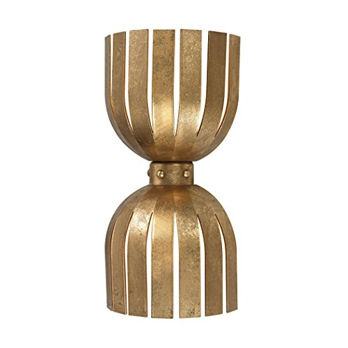Olympia Double Wall Sconce, Antique Gold Leaf ()
