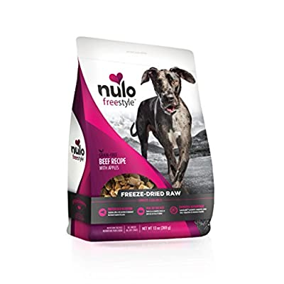 Nulo Freeze Dried Raw Dog Food for All Ages & Breeds: Natural Grain Free Formula with GanedenBC30 Probiotics for Digestive & Immune Health - 13 oz Bag