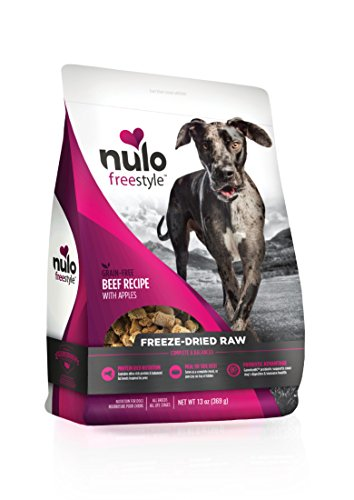 Allergies Rice Food (Nulo Freeze Dried Dog Food: Freestyle Freeze-Dried Raw Dog Food - Natural Grain Free Formula with GanedenBC30 Probiotics for Digestive and Immune Health - Beef Recipe with Apples - 13 oz Bag)