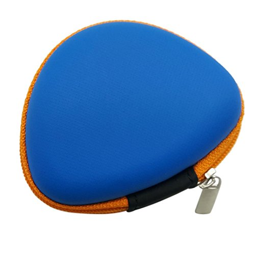 DZT1968 Gift For Fidget Hand Spinner Triangle Finger Toy Anti-Slip Focus ADHD Autism Bag Case 9×3.5cm (Blue)