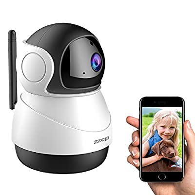 Wifi Baby Monitor Camera,ZZCP HD 1080P Wireless IP Camera Indoor Nanny Cam Home Security Surveillance System with Two-Way Audio,Night Vision and Motion Detection for Baby/Elder/Pet Monitoring